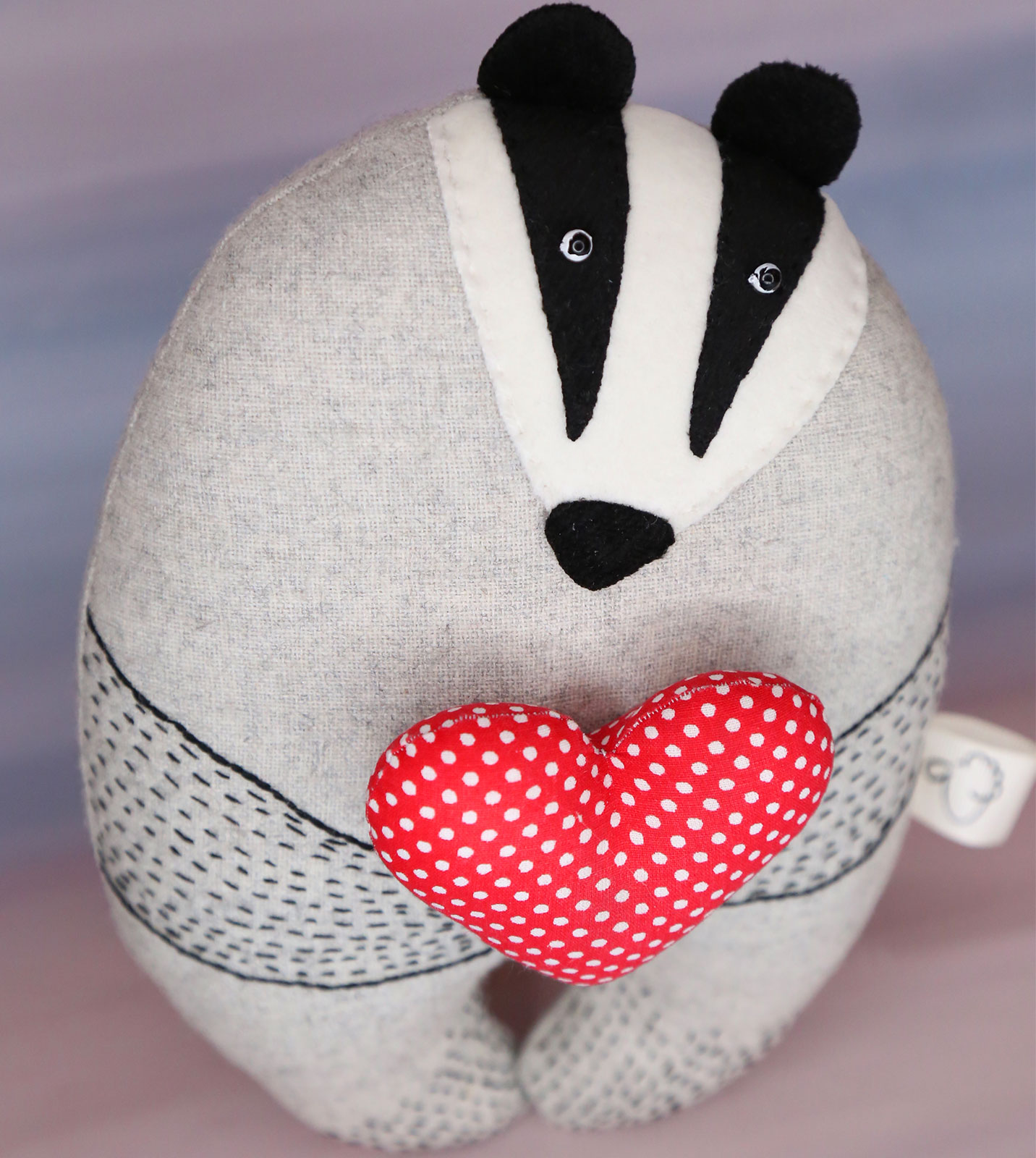 Badger with a heart