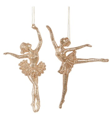 Gold ballerinas